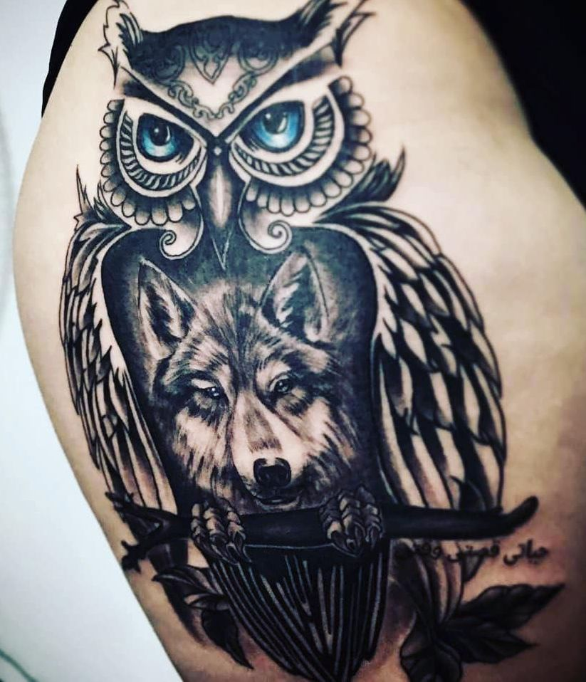 50 Of The Most Beautiful Owl Tattoo Designs And Their Meaning For The Nocturnal Animal In You Owl Tattoo Design Tattoos Wolf Tattoo