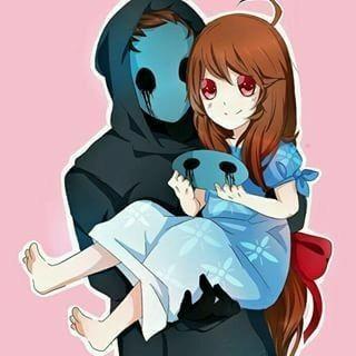 Eyeless Jack, Lazari, cute, carrying, mask