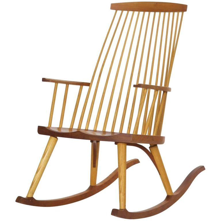 For Sale On 1stdibs A Very Finely Benchmade Modern Rocking Chair By The Firm Of Thomas Moser It Wa Rockers Rocking Chairs Modern Rocking Chair Rocking Chair