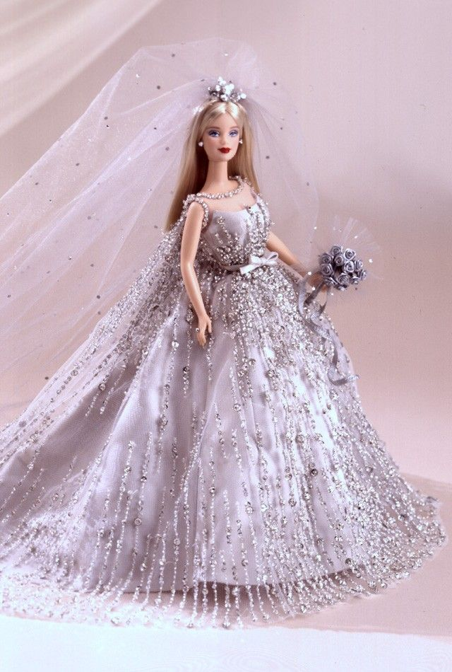 Doll K06 White Fashion Princess Party Dress//Wedding Clothes//Gown+Veil For 11 in