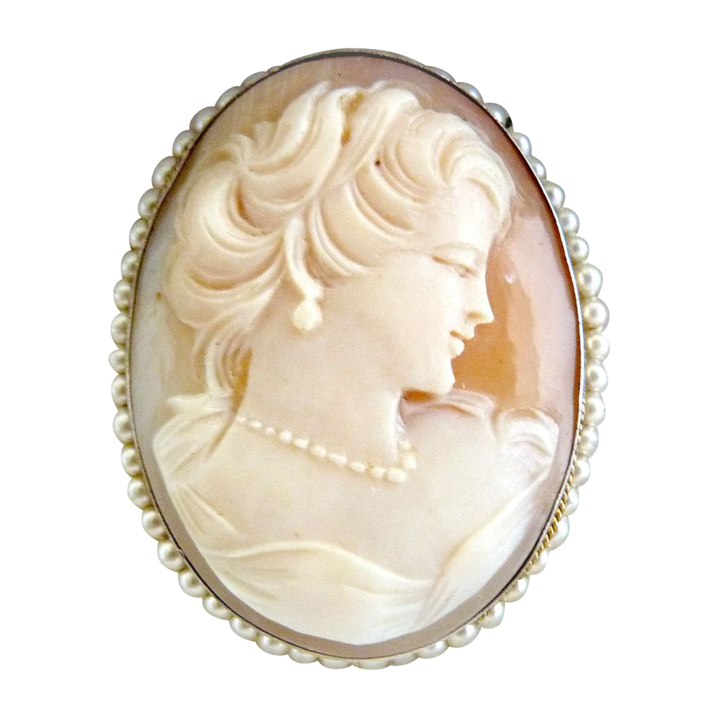 Italian cameo brooch pendant seed pearls 800 silver mark cameo italian cameo brooch pendant seed pearls 800 silver mark aloadofball Image collections
