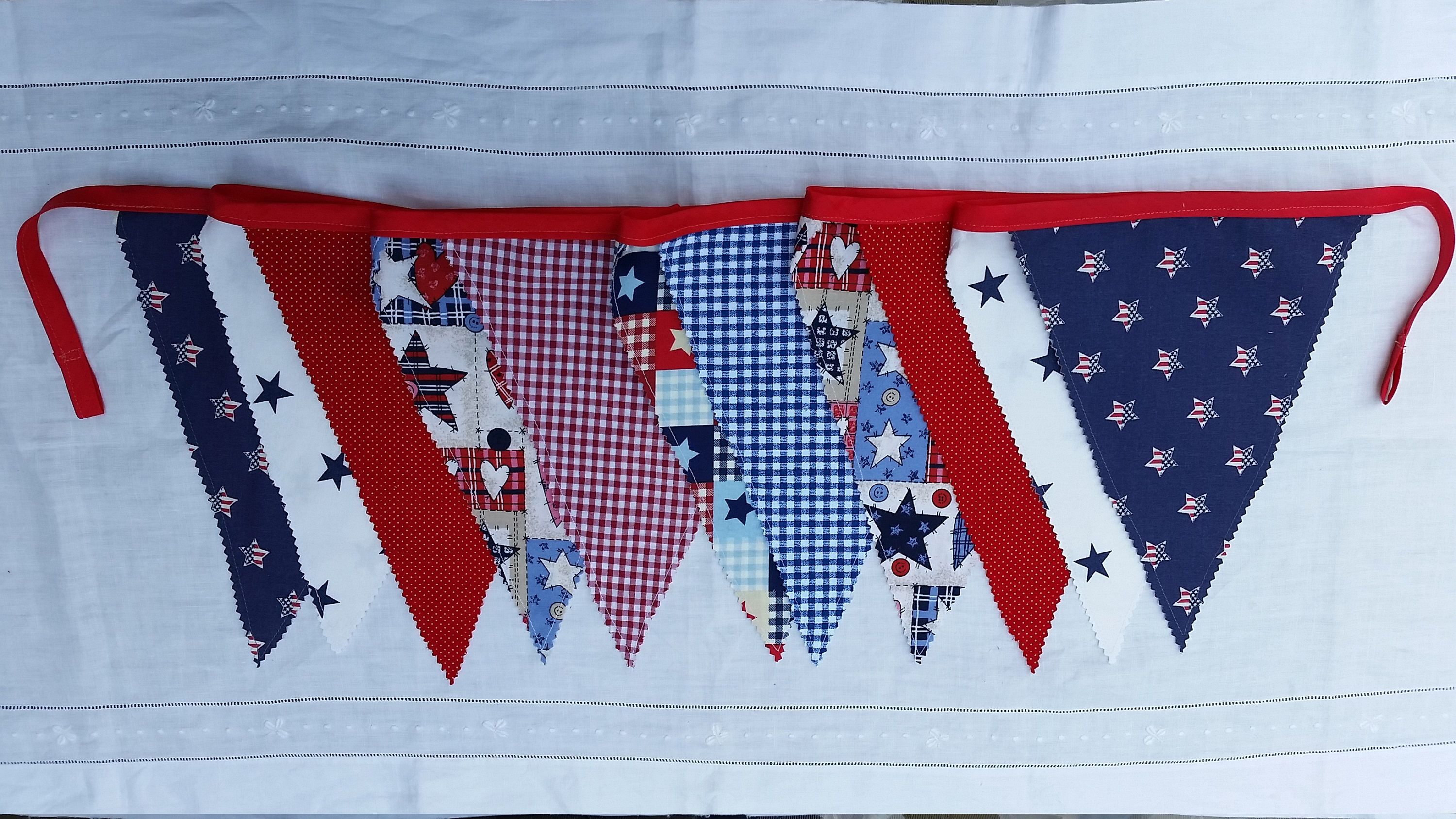 ec52f95cd05 Labor Day July 4th Patriotic Country fabric banner bunting