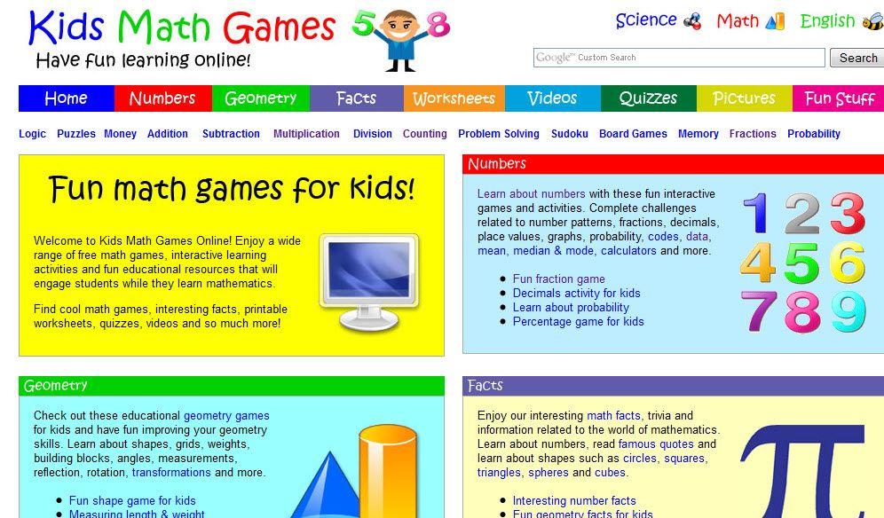 math worksheet : kids math games online  math interactives sites  pinterest  : Math Games Online For Kindergarten