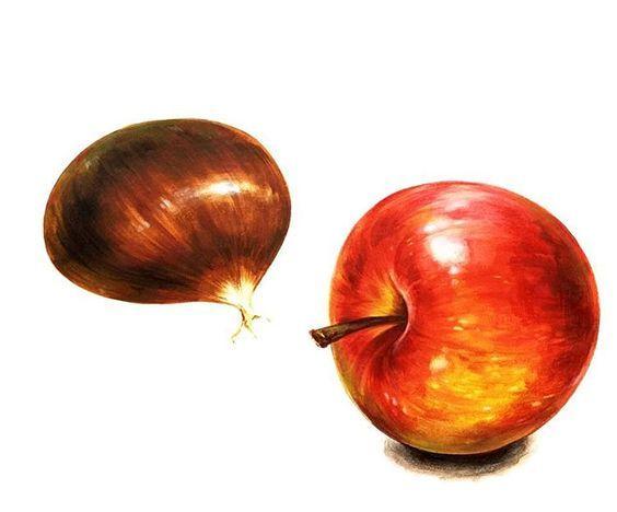 밤 & 사과 (자연물)