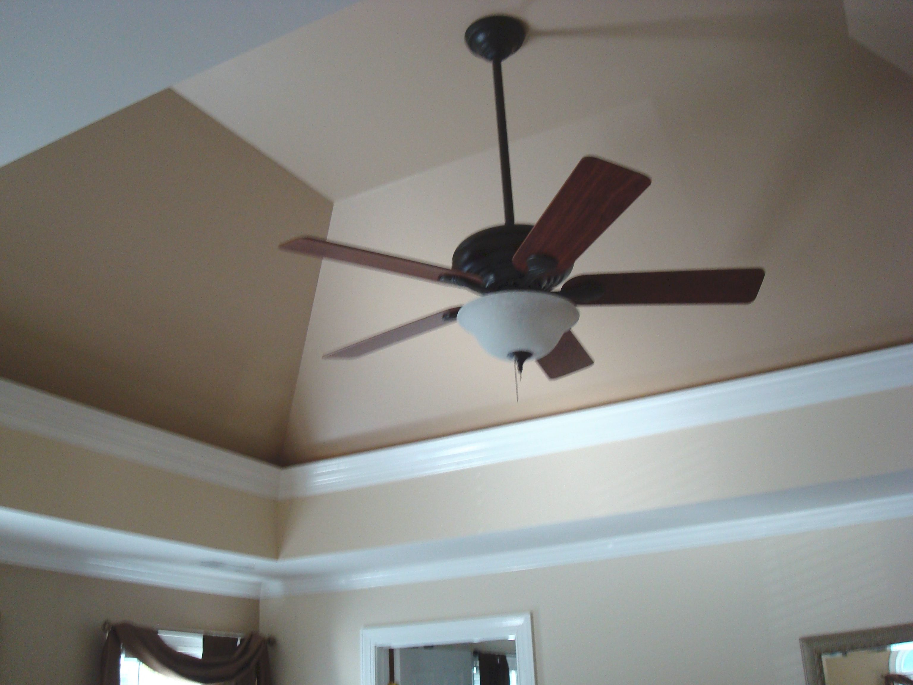 It S Standard Procedure To Repaint Your Walls A Color While Keeping The Ceiling White We Ve Been Informed Painted Ceiling Beige Ceiling Paint Colored Ceiling