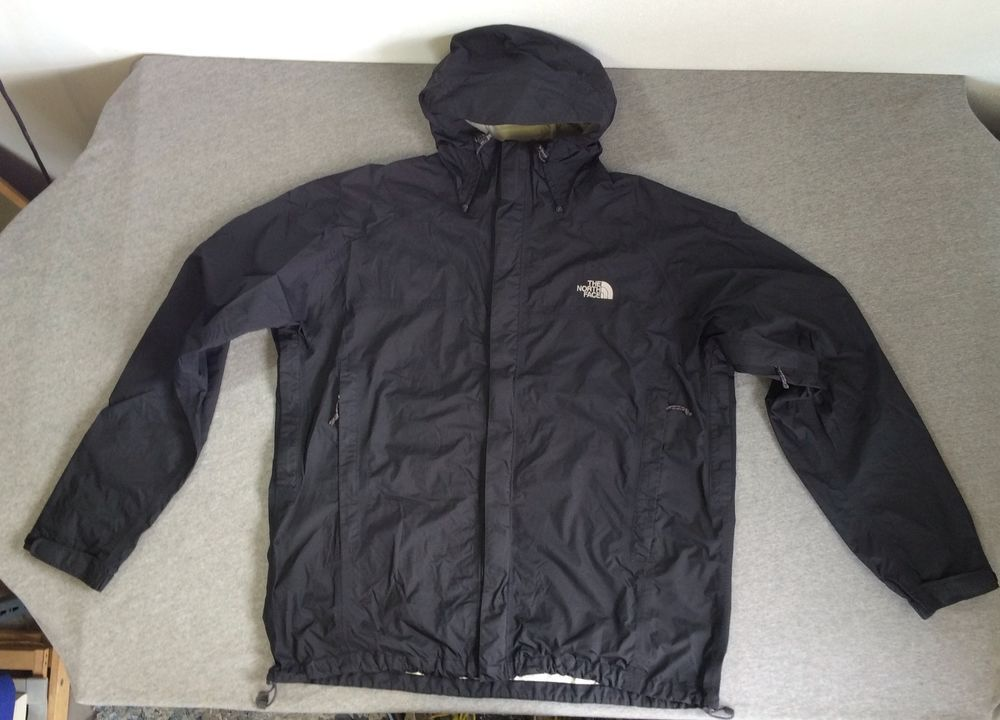 2b195270d NORTH FACE Rain Jacket HyVent DT Waterproof Hooded Black Coat Men's ...