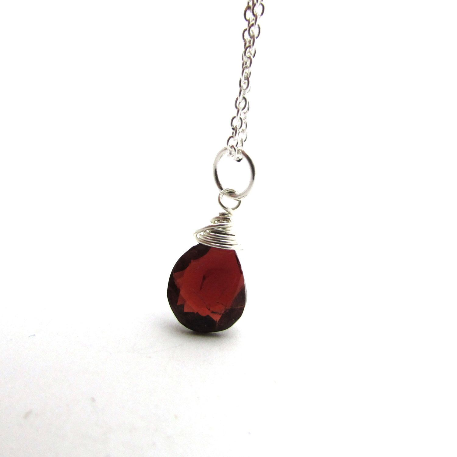 capricorn stone garnet fullxfull raw pendant necklace anxiety january listing aids il root chakra depression red birthstone