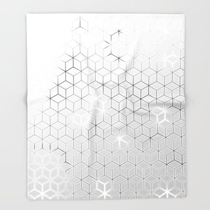 Smokey Grey Hexas Throw Blanket by Sheldon Stewart | Society6