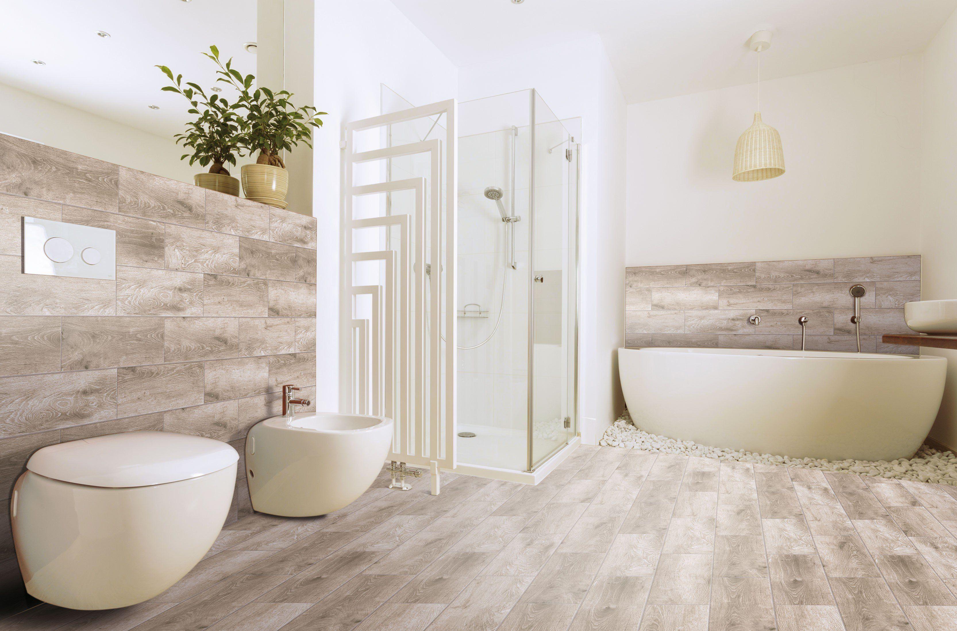 Alpes Greige Wood Effect Floor Tile | Tile floor, Wood ...