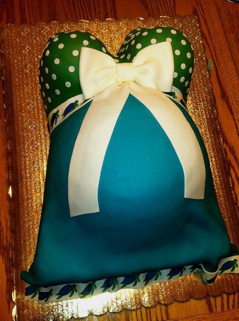 Belly Baby Shower Cake by valscustomcakes, via Flickr