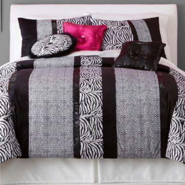 Seventeen Ciera Zebra Comforter Set Found At Jcpenney