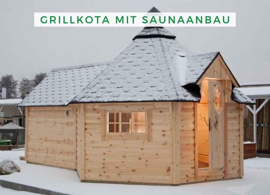 Grillkota Bauen Wolff Finnhaus Grillkota De Luxe Mit Saunaanbau Gartenhaus Mit Sauna Aussensauna Saunahaus