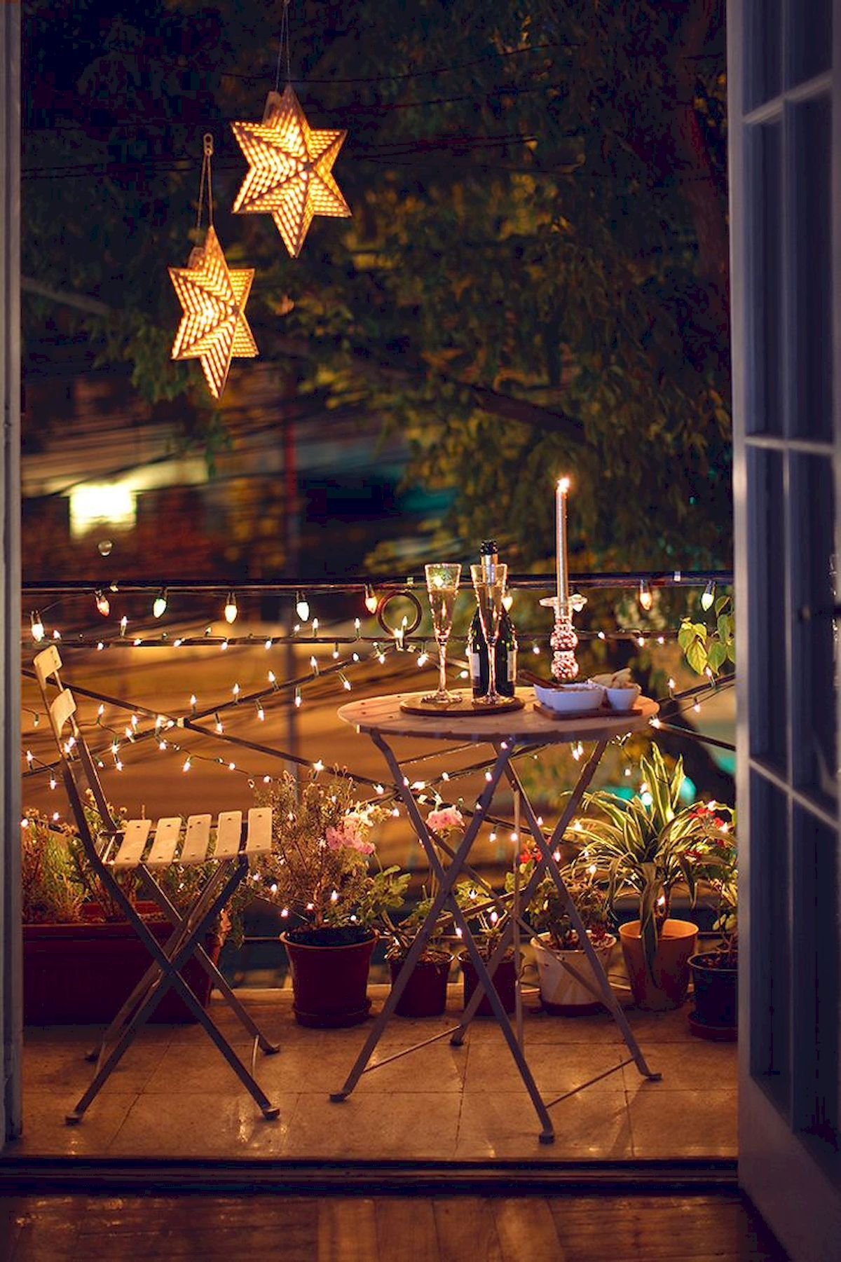 Simple Lighting Ideas for Beautify Your Backyard #balconylighting