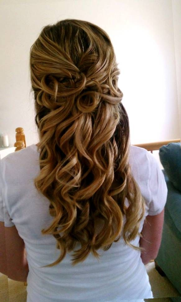 Half Up Half Down Prom Hairstyles Pinterest   Wedding hair ...