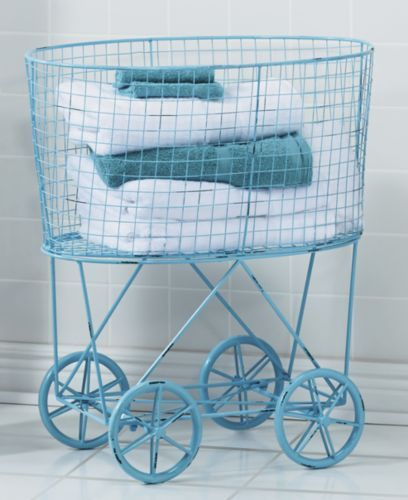 Vintage Style Rolling Laundry Cart Laundry Cart Vintage Kitchen