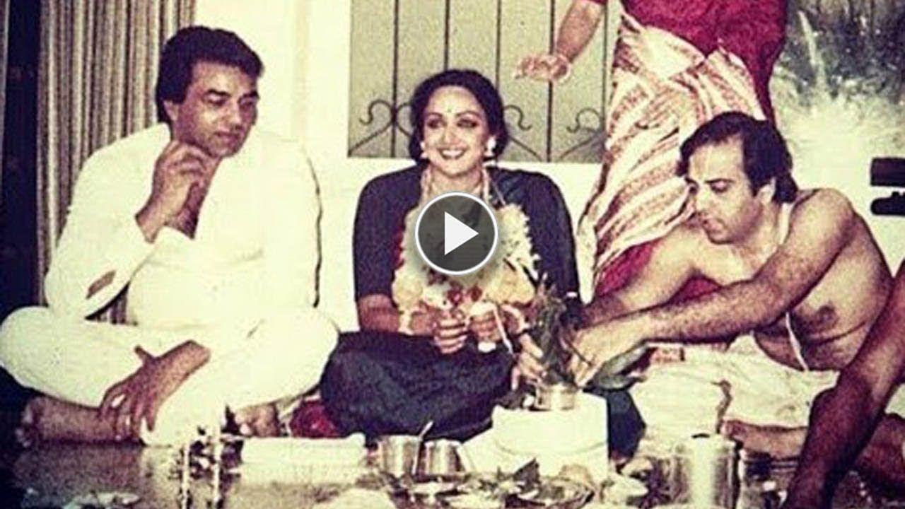 Hema Malini and Dharmendra Unseen Wedding Photos Hema