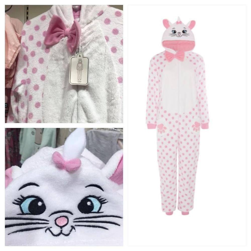 8e99399b1 Ladies DISNEY MARIE THE CAT All In One Pyjamas Sleepsuit Costume ...