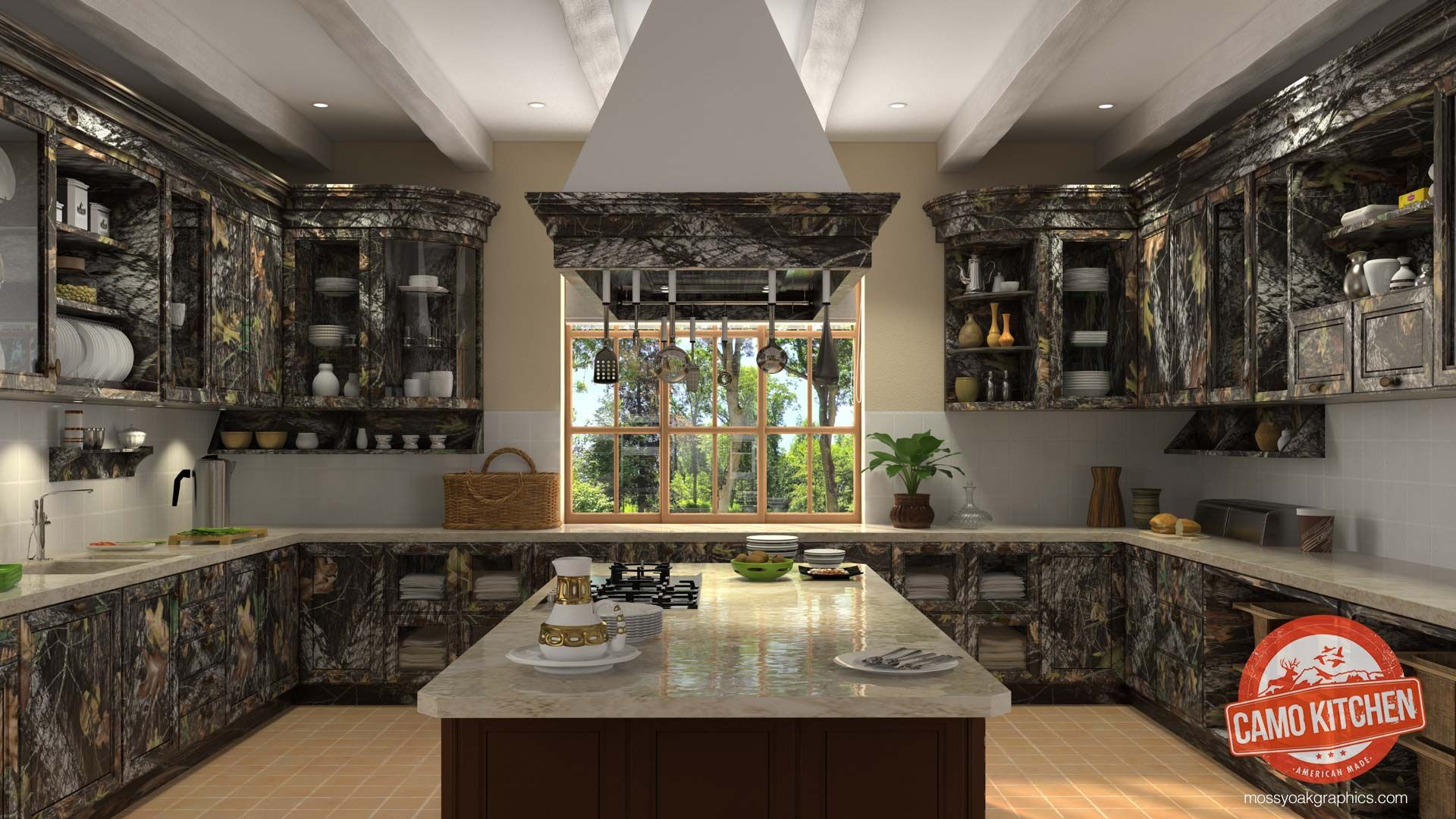 Oh My Good God Can You Believe This Camo Kitchen How Fabulous