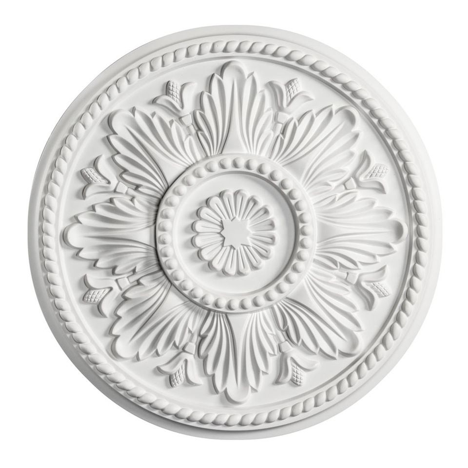 Dk decor 5004 18inches round white polyurethane foam decorative dk decor 5004 18inches round white polyurethane foam decorative architectural ceiling medallion for decor dailygadgetfo Image collections