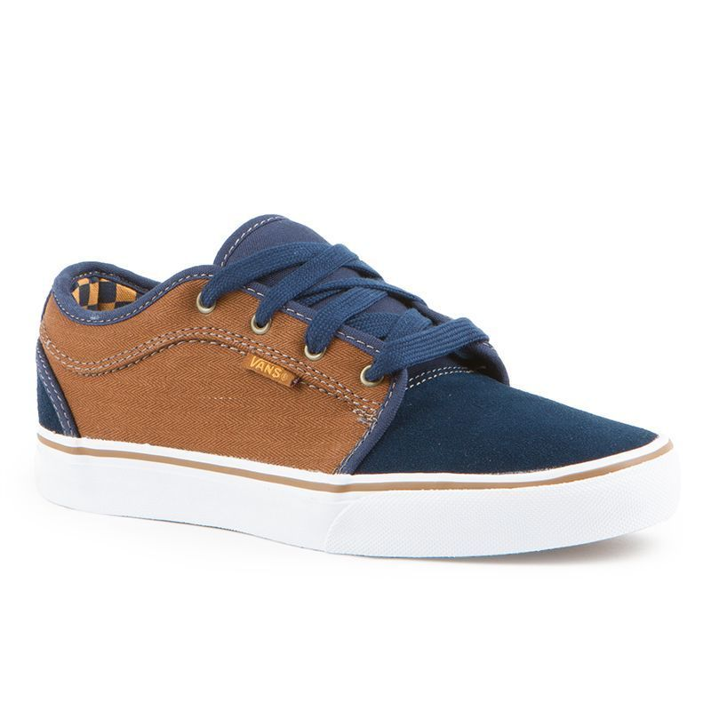 9819b8761ffeb Zapatillas Sneakers Mens Vans Chukka Low (Herringbone) Navy Tobacco  000V631035