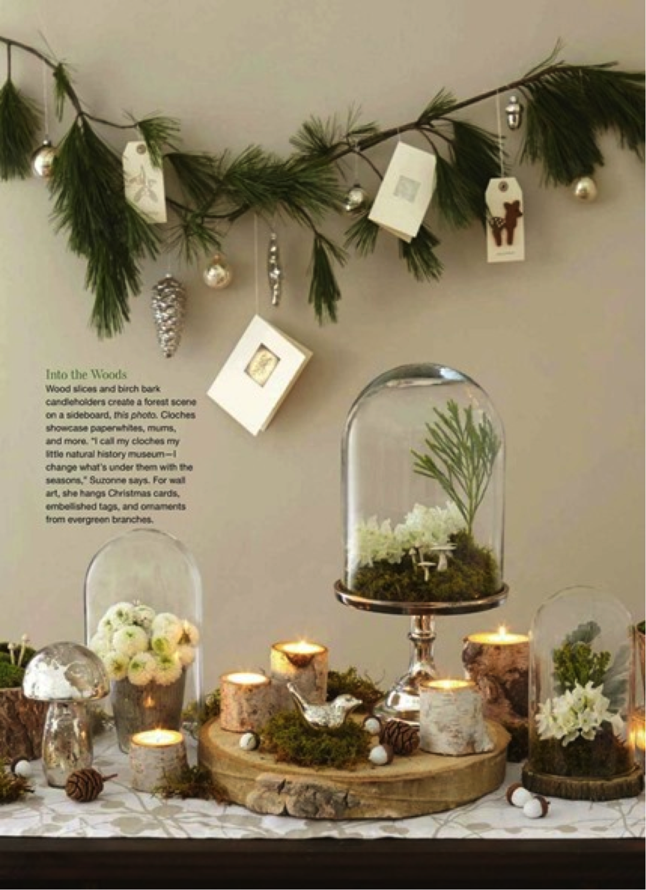 Holiday Decor Inspired by Nature Holiday decor christmas