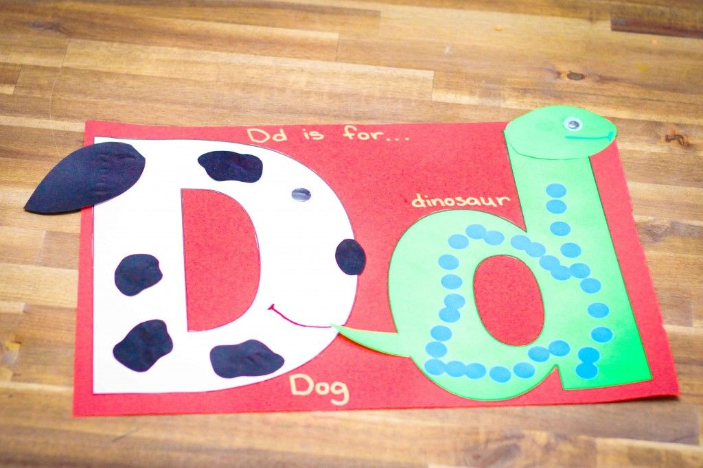 Preschool Letter Of The Week D Craft Dog Dinosaur