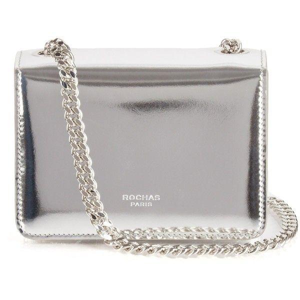 Rochas Metallic Leather Shoulder Bag Found On Polyvore Featuring Bags Handbags Bolsas Purses Bolsos сумки Silver