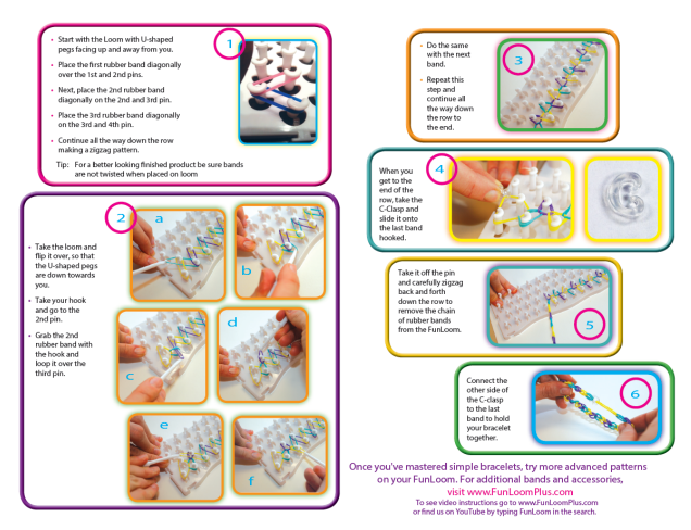 Funloom Instructions Two Png Loom Bands Pinterest