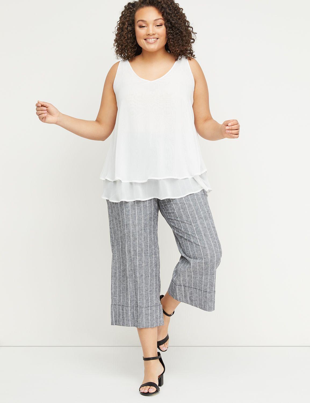 DoubleLayer Swing Shell Plus size tops, Fashion, Lane