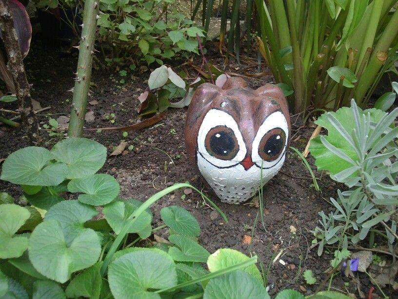Enfeite De Jardin ~ Corujinha enfeite de jardim de garrafa pet eu que fiz!!! Pinterest