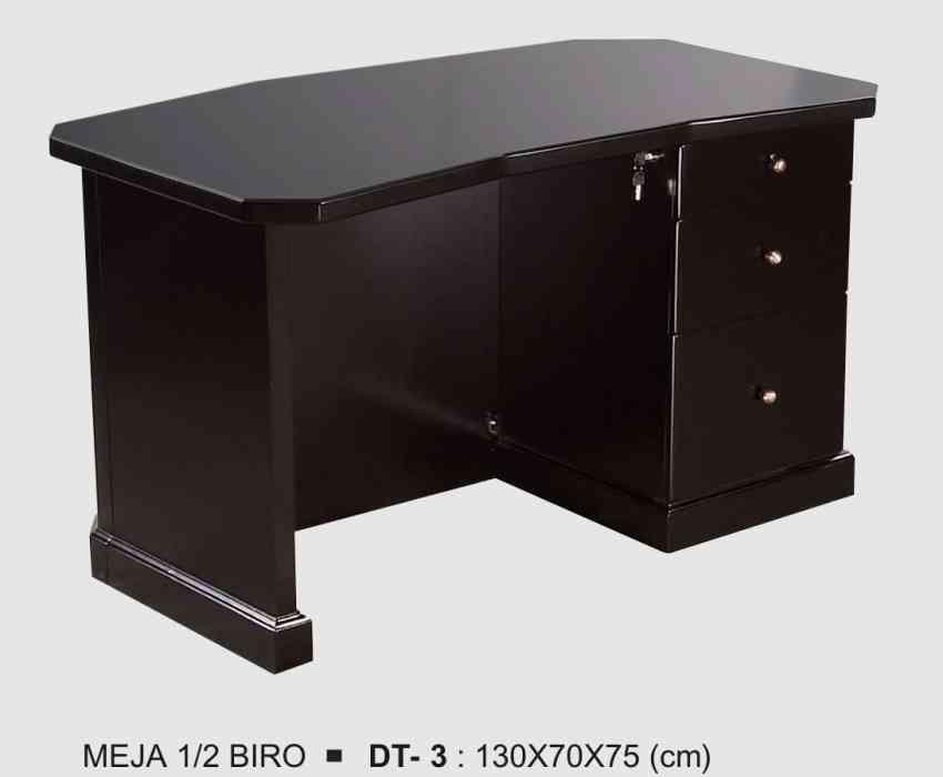 meja kantor setengah biro kayu jati toko mebel jepara online furniture minimalis terbaru