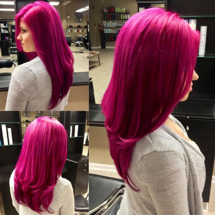 Bright Pink Ombre Hair Color Idea For Dark S Natural Balayage Hairstyle