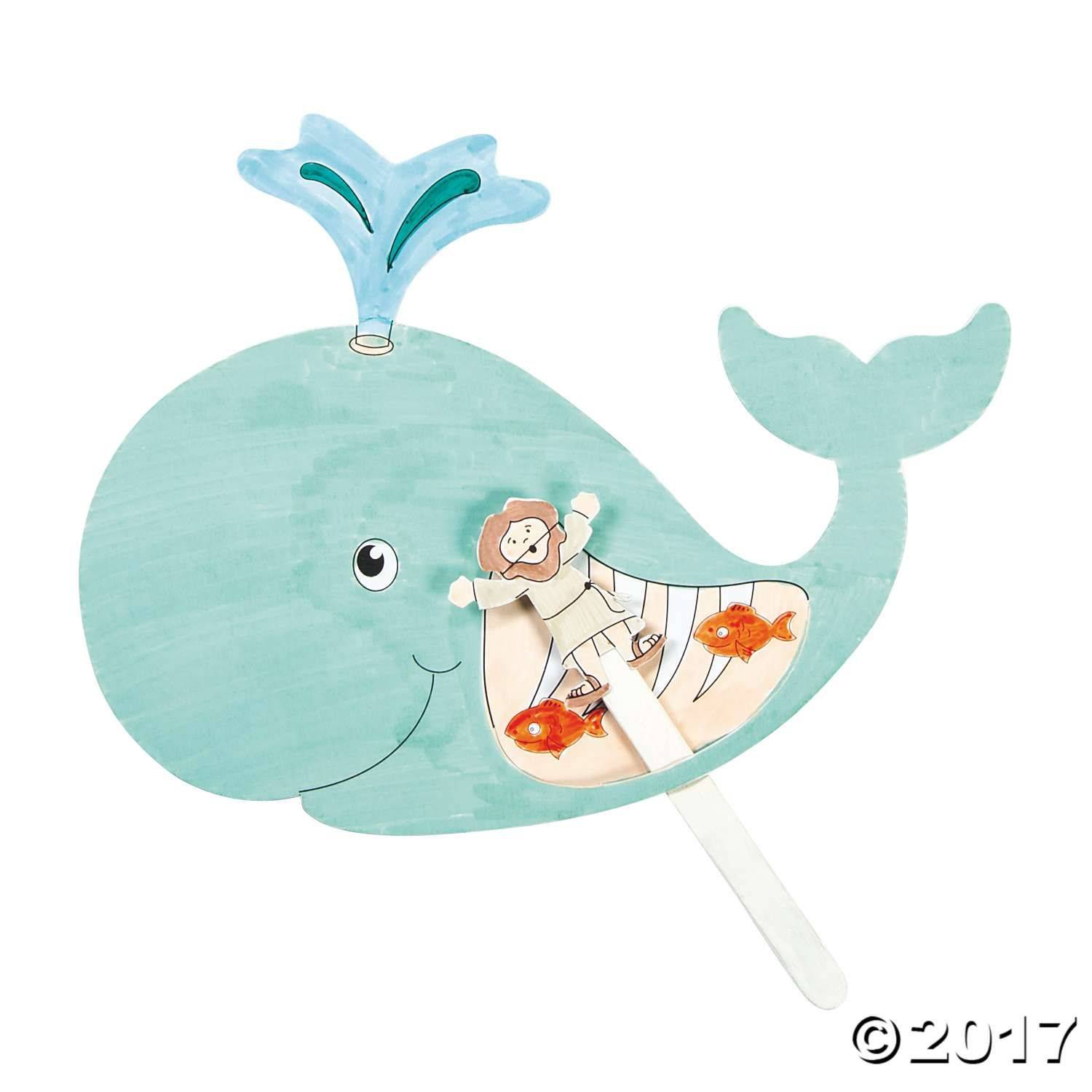 Color Your Own Jonah Amp The Whale Pop Up Puppets Craft Kit
