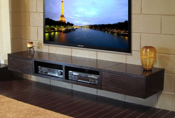 wall mounted tv stand console mayan espresso