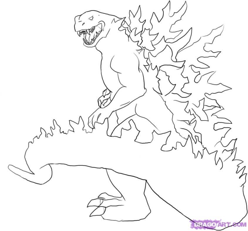 Godzilla Coloring Pages 1