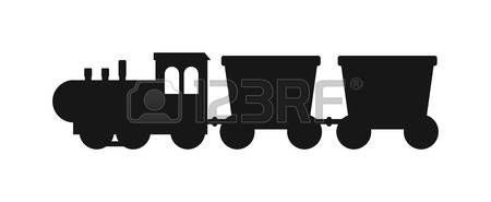 silhouette noire: Vector Les silhouettes noires des trains. Trains silhouette locomotives avec différents wagons. Trains silhouette noire transport locomotive et les trains silhouette trafic transport fret signe rail.