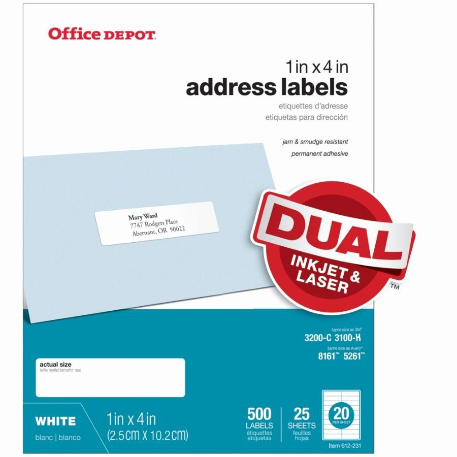 Avery Removable 1 x 2 5//8 Inch White ID Labels 750 Count 6460