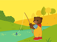 Little Brown Bear Likes Fishing Petit Ours Brun Ours Brun Petite Ourse