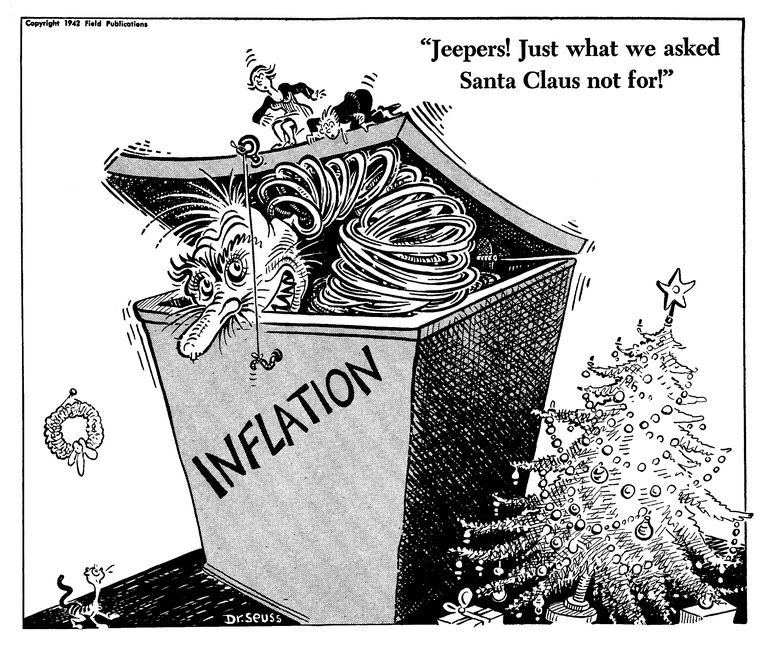Image result for inflation cartoon dr seuss