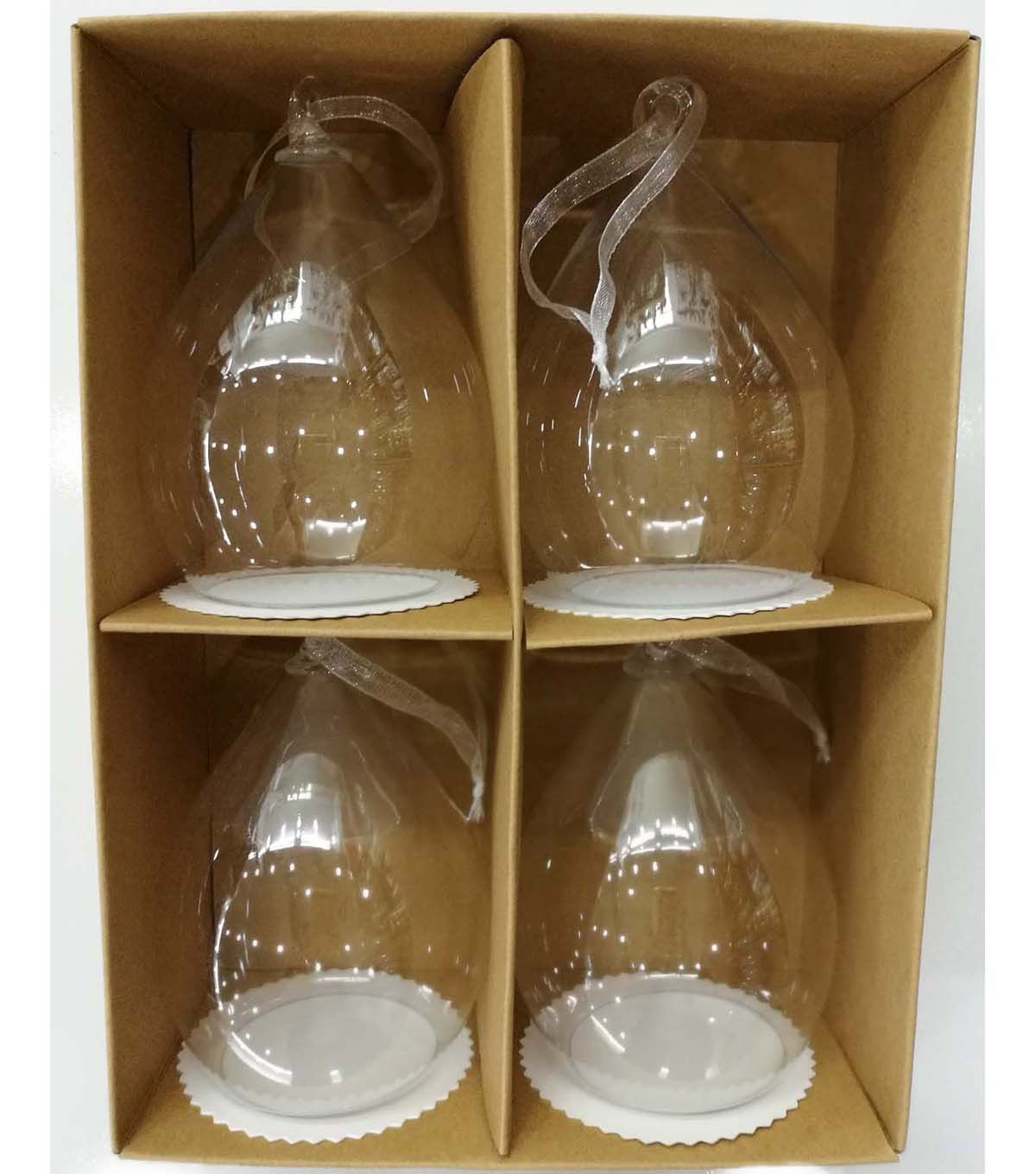 Acrylic clear ornaments - Fab Lab Pack Of 4 Acrylic Onion Dome Shape Ornaments Clear