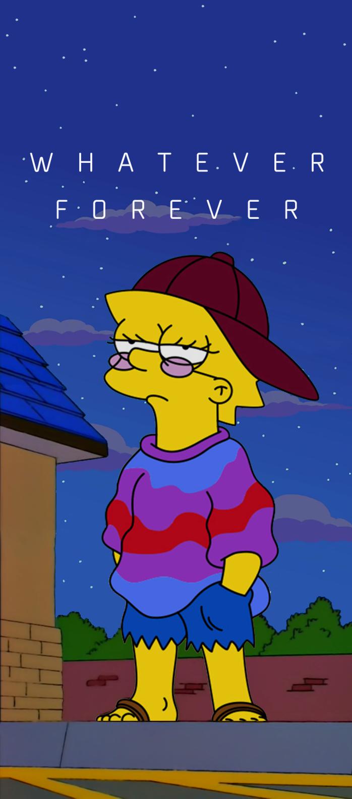 Lisa Simpson Whatever Forever Vaporwave [1584x698
