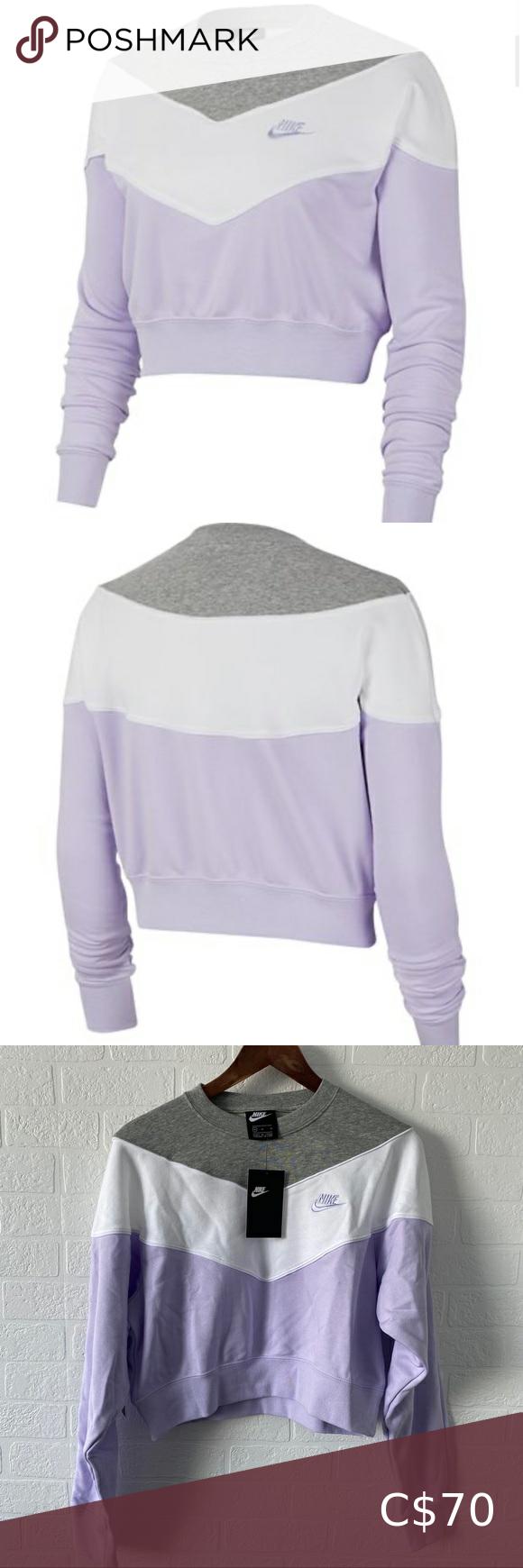 Price Drop Nwt Nike Cropped Loose Fit Sweatshirt Sweatshirts Workout Sweatshirt Loose Fitting [ 1740 x 580 Pixel ]