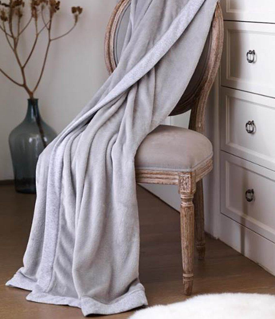 UGG® Duffield JerseyTrimmed Plush Throw Cozy throw