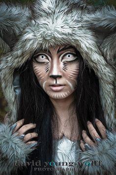 halloween costume and makeup - Wolf Makeup Halloween