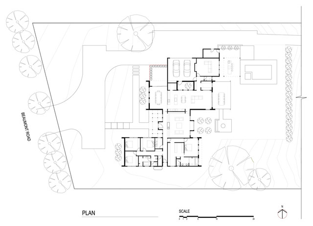 Atelier Red Black S New Contemporary Country House Houzz In 2020 Country House Design House Design Large Floor Plans