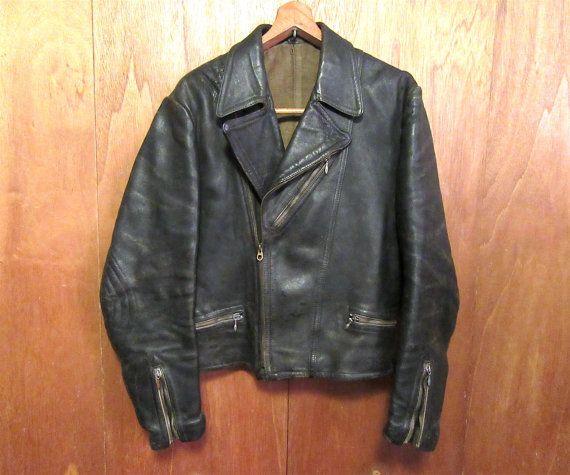 Sonderpreis der 1950er Jahre Haelson Motorrad Lederjacke.: Größe 40 ...