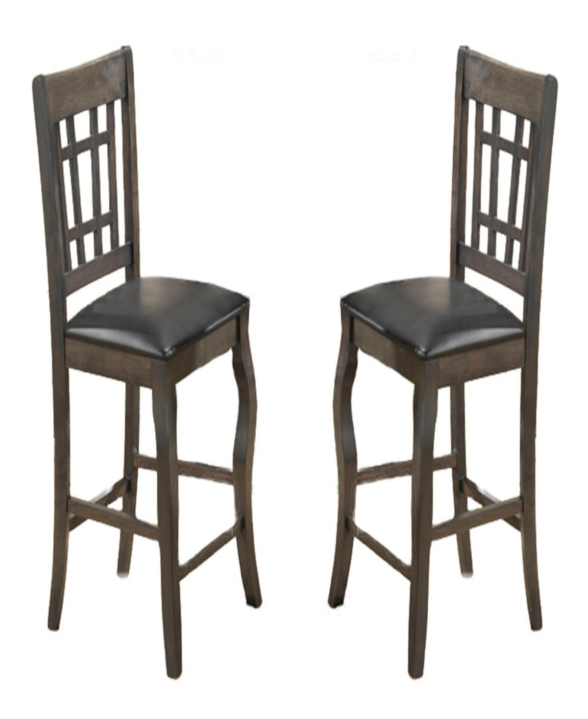 Benzara Wooden Counter Height Chair Set Of 2 Reviews