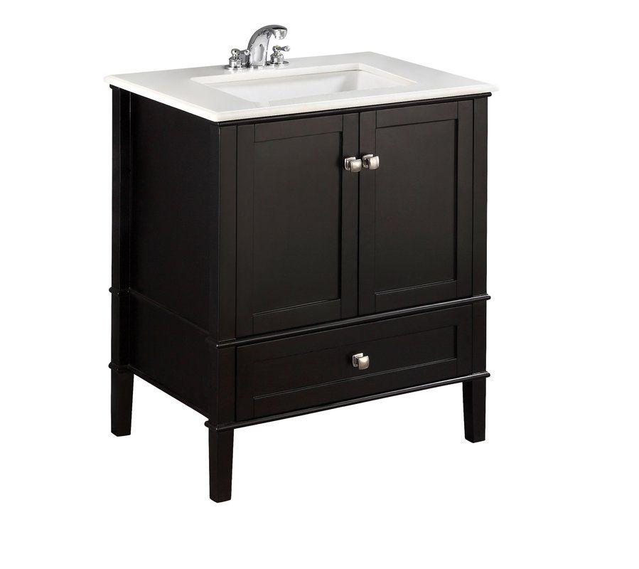 Chelsea 31 Single Bathroom Vanity Set Black Vanity Bathroom