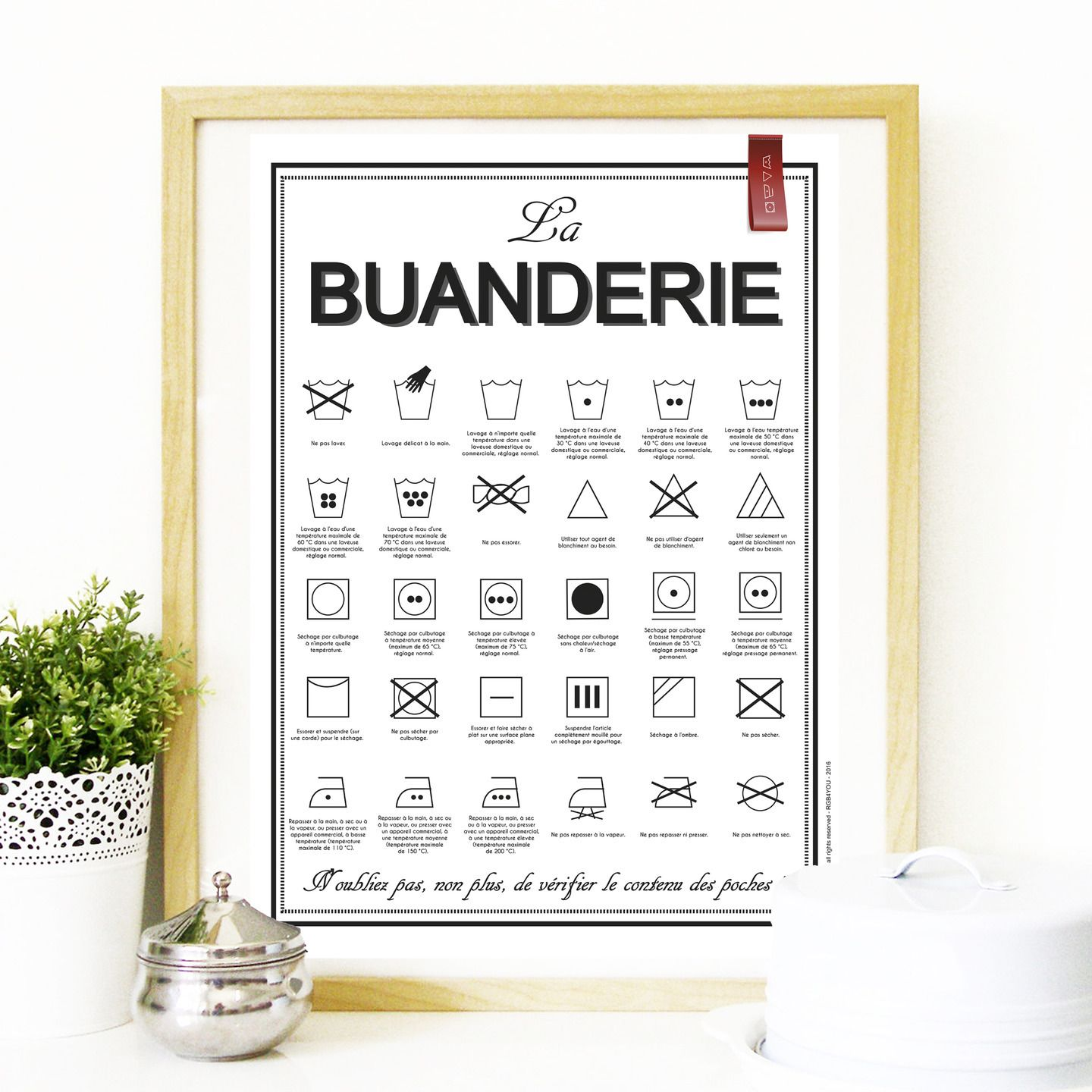 Affiche Decoration Interieur Poster Quotthe Laundry Quot Format A3 Or 50 X 70 Cm Affiches