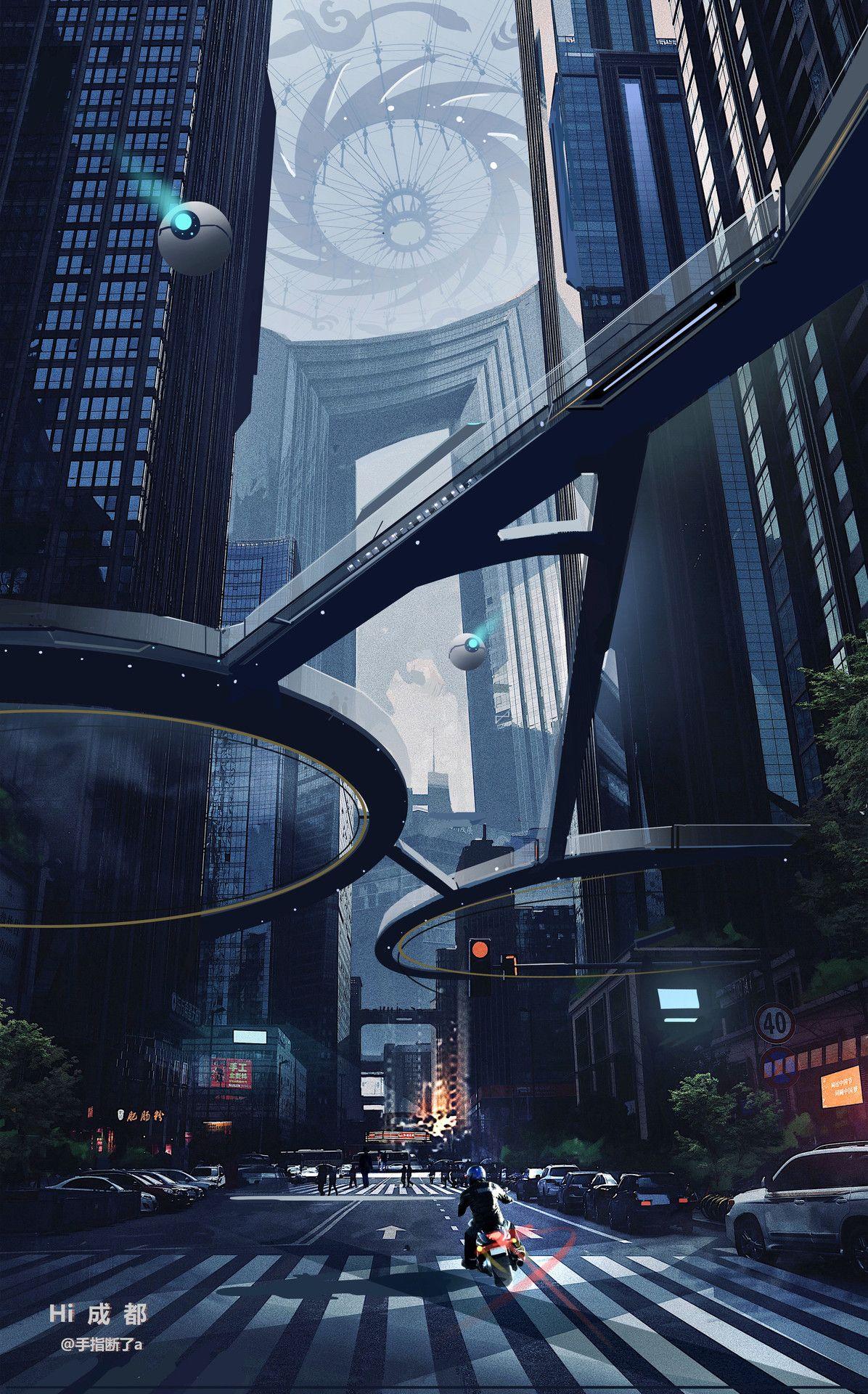 Pin by Pierre Vainqueur on CENARIO - inspiração - surreal | Futuristic  city, Futuristic art, Futuristic architecture